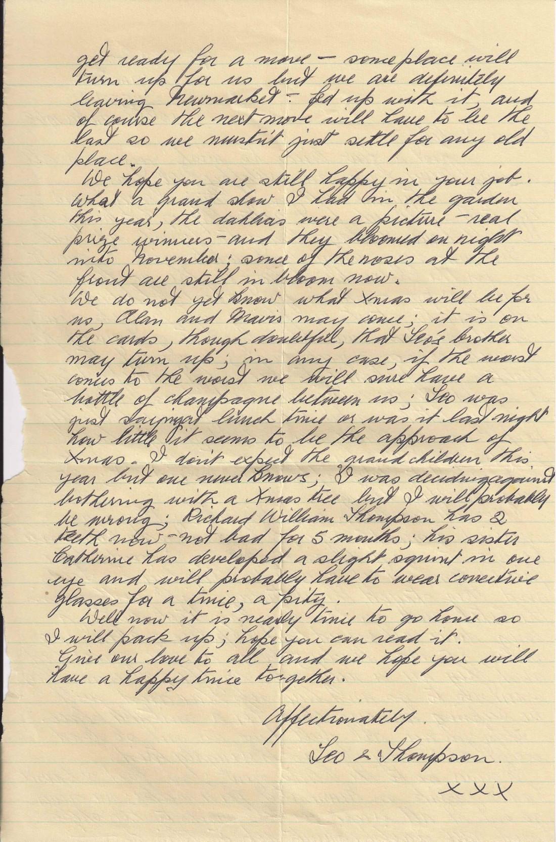 Thoms letter 3